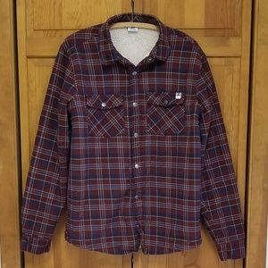 DC Plaid Flannel Shirt Fleece Lined
